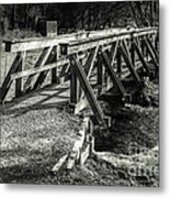 The Wooden Bridge Metal Print by Hannes Cmarits