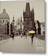 The Yellow Umbrella Metal Print by Ivy Ho