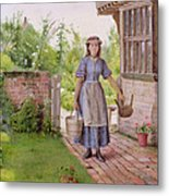 The Young Milkmaid Metal Print by George Goodwin Kilburne