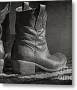 These Boots Metal Print by Terry Rowe