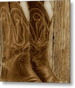 These Boots Were Made For Metal Print by Cheryl Young