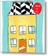 Thinking Of You Card Metal Print by Linda Woods
