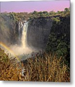 This Is Zimbabwe No.  1 - Thundering Victoria Falls Metal Print by Paul W Sharpe Aka Wizard of Wonders
