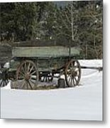This Old Wagon Metal Print by Steven Parker