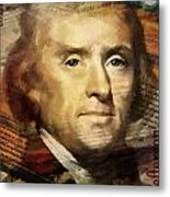 Thomas Jefferson Metal Print by Corporate Art Task Force