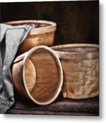 Three Basket Stil Life Metal Print by Tom Mc Nemar