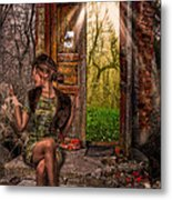 Through The Forest Door Metal Print by Erik Brede