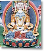 Tibetan Buddhist Temple Deity Sculpture Metal Print by Tim Gainey