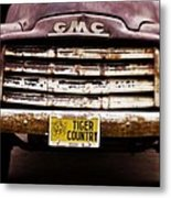 Tiger Country - Purple And Old Metal Print by Scott Pellegrin