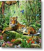 Tiger In The Jungle Metal Print by Adrian Chesterman