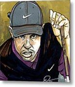 Tiger Woods Metal Print by Dave Olsen