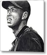 Tiger Woods Driven Metal Print by Devin Millington