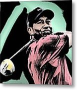 Tiger Woods Metal Print by Tanysha Bennett-Wilson