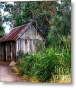 Timber Shack Metal Print by Kaye Menner