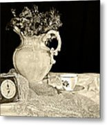 Time For Tea Metal Print by Camille Lopez