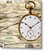 Time Is Over Money Metal Print by Olivier Le Queinec