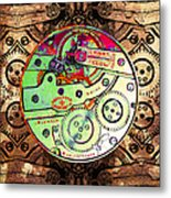 Time Machine 20130606 Square Metal Print by Wingsdomain Art and Photography