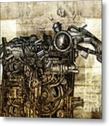 Time Monster Metal Print by Diuno Ashlee