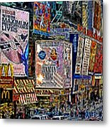 Time Square New York 20130430v3 Metal Print by Wingsdomain Art and Photography