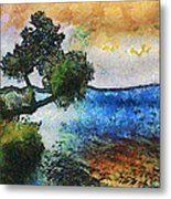 Time Well Spent - Medina Lake Metal Print by Wendy J St Christopher
