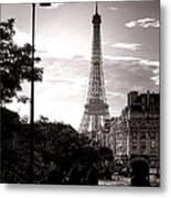 Timeless Eiffel Tower Metal Print by Olivier Le Queinec