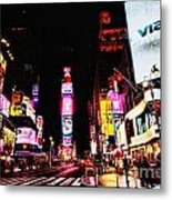 Times Square Metal Print by Andrew Paranavitana