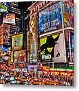 Times Square Metal Print by Randy Aveille