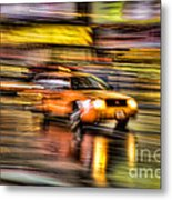 Times Square Taxi I Metal Print by Clarence Holmes