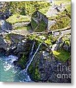 Tintagel Waterfalls Metal Print by Rod Jones