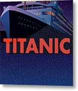Titanic 100 Years Commemorative Metal Print by Leslie Alfred McGrath