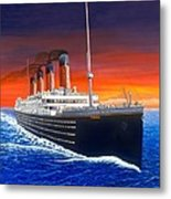 Titanic Metal Print by David Linton