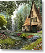 Toadstool Cottage Metal Print by Dominic Davison