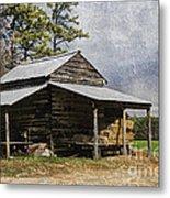 Tobacco Barn In North Carolina Metal Print by Benanne Stiens