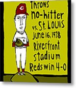 Tom Seaver Cincinnati Reds Metal Print by Jay Perkins