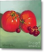 Tomatoes And Concord Grapes Metal Print by Dessie Durham