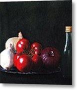 Tomatoes And Onions Metal Print by Anastasiya Malakhova