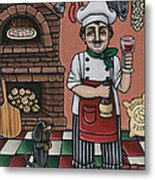 Tommys Italian Kitchen Metal Print by Victoria De Almeida