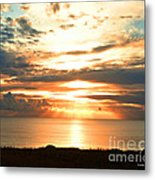 Tomorrow Is A New Day- Beach At Sunset Metal Print by Artist and Photographer Laura Wrede