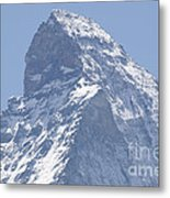 Top Of A Snow-capped Mountain Metal Print by Mats Silvan