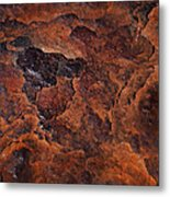 Topography Of Rust Metal Print by Rona Black