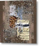 Torn Papers On Wall Metal Print by Carol Leigh