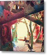 Toward The Light Metal Print by Laurie Search