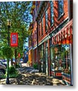 Town Of The Rising Sun Metal Print by Mel Steinhauer