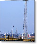 Town Quay Navigation Marker And Fawley Metal Print by Terri Waters