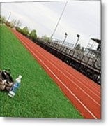 Track And Field Metal Print by Tom Druin