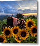 Tractor Heaven Metal Print by Debra and Dave Vanderlaan
