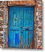 Traditional Door 2 Metal Print by Emmanouil Klimis