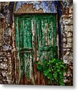 Traditional Door Metal Print by Emmanouil Klimis