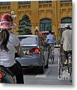 Traffic In Downtown Hanoi Metal Print by Sami Sarkis