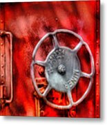 Train - Car - The Wheel Metal Print by Mike Savad